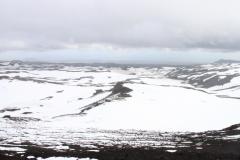 Vue depuis Fimmvörðuháls vers le Sud