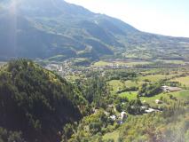 Vue de la vallée pendant la montée vers les Richards