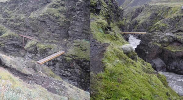 Le pont permettant de passer la rivière Botnaa