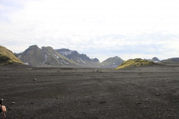 Traversée d'une lande glacière