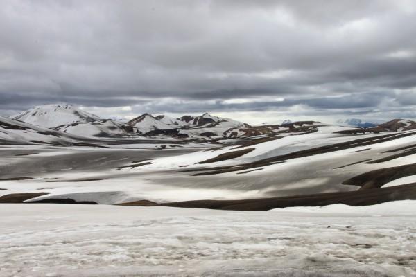 Vallée àa traverser àvant l'arrivée à Hraftinnusker