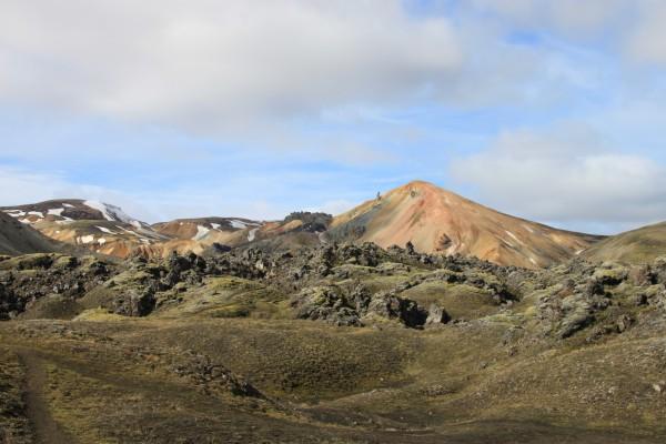 Volcan Brennisteinsalda vue depuis la Landmannalaugar (photo du 02/07)