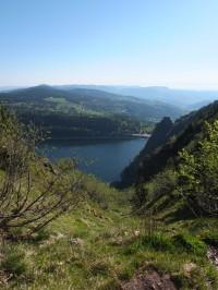 Lac Blanc vue du sentier panoramique (GR5)