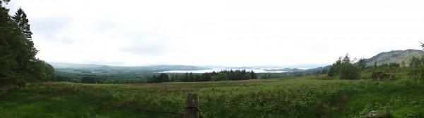 Sud du Loch Lomond vue depuis la sortie de Garadhban Forest